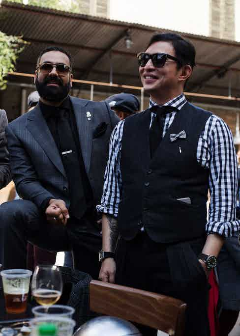 Founder of the DGR Mark Hawwa and The Rake's Founder Wei Koh. Photograph by Stéphane Buttice.