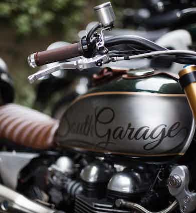 A custom South Garage bike. Photograph by Stéphane Buttice.