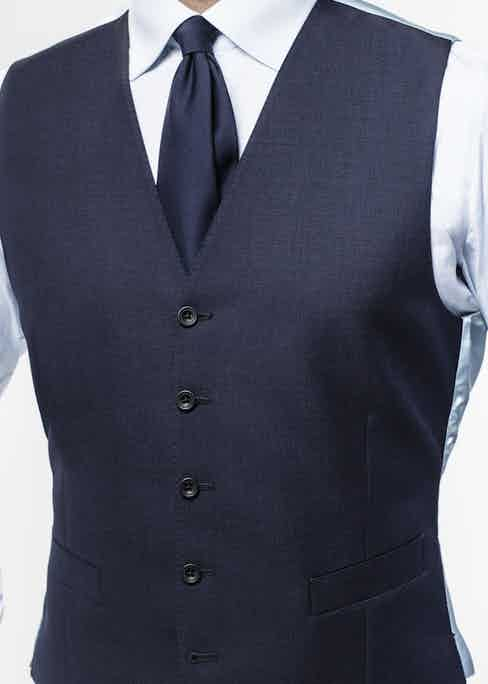 The navy Get Carter wool and mohair three-piece suit by Chester Barrie for The Rake. Available to purchase on TheRake.com.