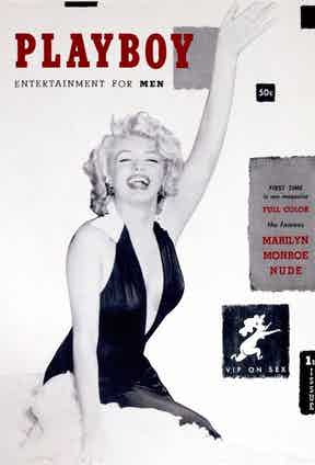 The first ever Playboy magazine with Marilyn Monroe on the cover was released in 1953 without a date, as Hefner didn't know if there was going to be a second issue.