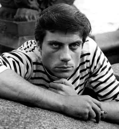 Reed wears a Breton striped jersey top, 1959. Photograph by Bentley Archive/Popperfoto/Getty Images.