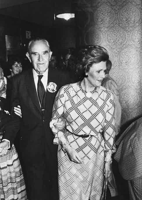 With her husband Averell Harriman attending a Democratic Party fund raiser at the Statler Hotel, New York. Photograph by Robin Platzer/Twin Images/The LIFE Images Collection/Getty Images.
