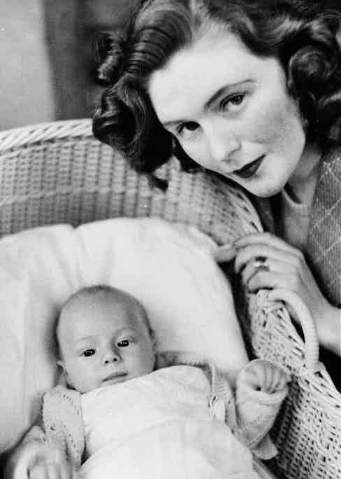 With her son Winston Churchill in 1940 named after his grandfather Sir Winston Churchill, Britain's wartime Prime Minister. Photograph by ANL/REX_Shutterstock.
