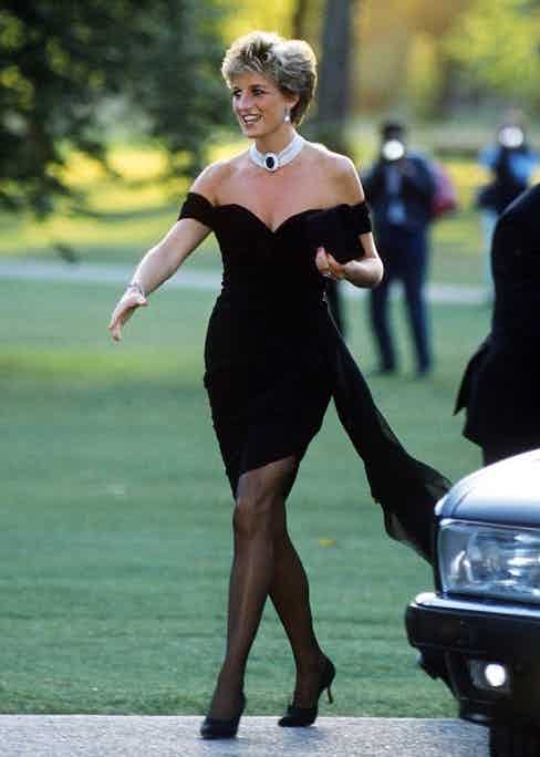 The LBD to end LBDs by Christina Stambolian, worn by the princess to an event at the Serpentine Gallery, 1994. It would later become known as her 'revenge dress' following her divorce from Prince Charles.