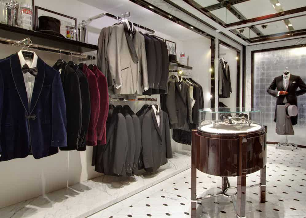 As well as a bespoke department, T&A offers ready-to-wear garments and accessories.
