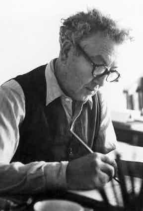 Most at home at his writing desk, Robert Graves 1895-1985 survived a fatal wound by a shell-fragment through the lung and lived a long celebrated life as a novelist and poet.