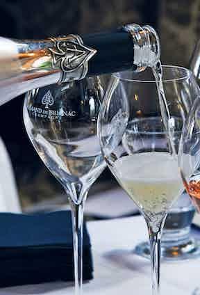 Taste-testing Armand de Brignac's selection of champagne.