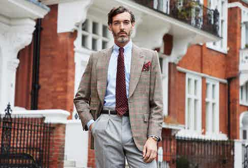 Edward Sexton's first ready-to-wear jacket, launched exclusively with The Rake.