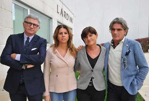 The Lardini family: Andrea, Annarita, Lorena and Luigi.