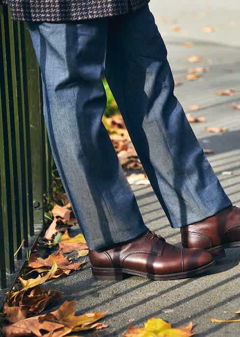 Salvatore Piccolo denim trousers. Photograph by James Munro.