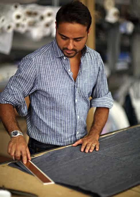 Salvatore Piccolo inside his Naples workshop.