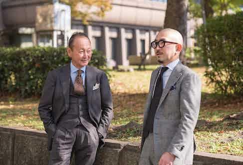 Brand President Fukushima and Divisional Manager Sasamoto.