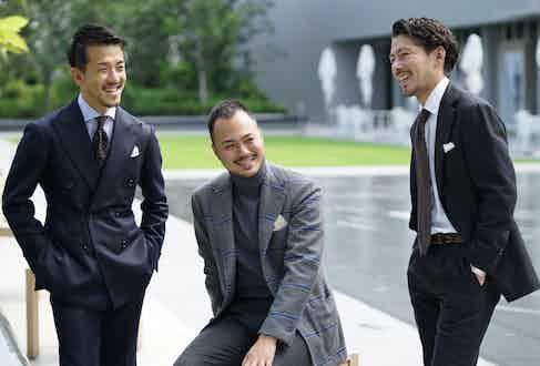 Ginza shop staff members Iwatani, Mizobata and Takahashi.