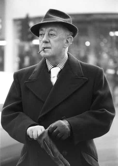 Sir Alec Guinness in London, 1977.