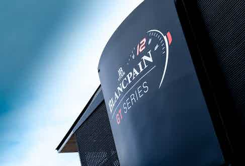 The Blancpain Hospitality motor home at the final race of the 2017 Blancpain GT Series in Barcelona.