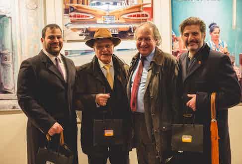 L-R: Joseph Thaddeus, Edward Sahakian, Paul Pritchett and Eddie Sahakian (Davidoff London).