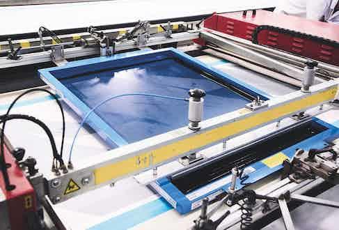 The printer midway through a print. Photograph by Kim Lang.