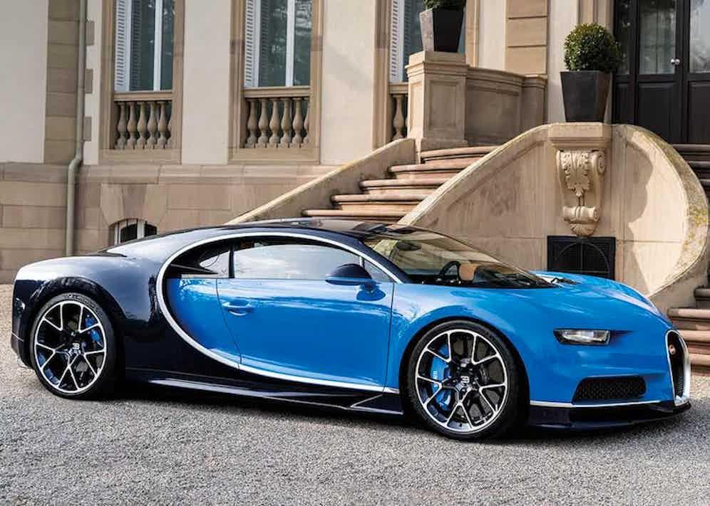 A 2017 Bugatti Chiron.