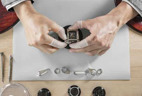 The watch being constructed in Fleurier.