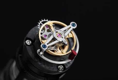 The flying tourbillon in all its glory.
