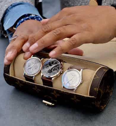 Mr Rahman's collection includes a white gold Perpetual Calendar ref. 5139G, a white gold Chronograph ref. 5170G and a platinum Calatrava ref. 5196P.