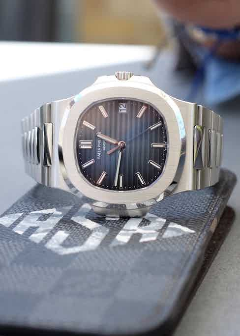Patek Philippe Nautilus ref. 5711/1A in stainless steel.