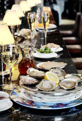 Wiltons' oysters are always caught in the British Isles since the restaurant gained a Royal Warrant for supplying Oysters to the Royal Household in 1836.