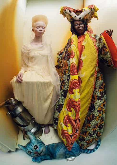 Thando Hopa as The Princess of Hearts and Whoopi Goldberg as The Royal Duchess. Photograph by Tim Walker.