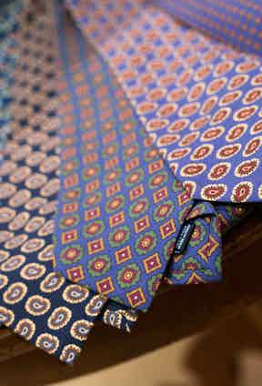 Calabrese's colourful ties and accessories.