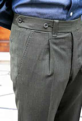 Ambrosi's flawlessly hand-finished trousers.