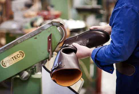 Ludwig Reiter's Husaren boots in the making.