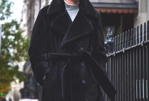 Motoluxe's Teddy Bear coat. Photograph by James Munro.