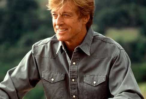 Robert Redford's overshirt in Out of Africa is in a soft, muted green, perfect for his game-hunting character.