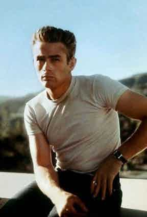 James Dean demonstrates how to pull off a humble white T-shirt, a garment originally used as part of uniform for seamen in the US Navy during WWII. Here he is pictured during the filming of Rebel Without a Cause, 1954.