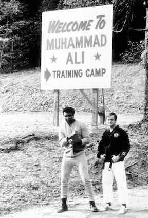 Muhammad Ali trains at his camp, circa 1975.