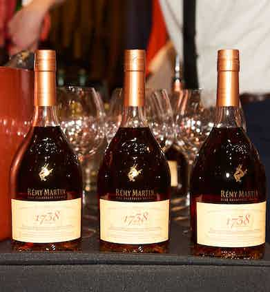 Remy Martin cognac kept the party going late into the evening.
