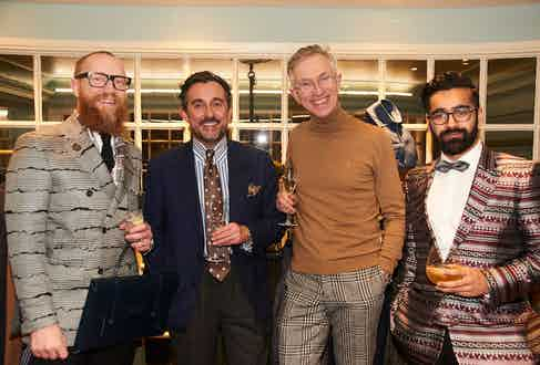 Turnbull & Asser's Dean Gomilsek-Cole, Kit Blake's Christopher Modoo, Grey Fox Blog's David Evans and Turnbull & Asser's Rikesh Chauhan.
