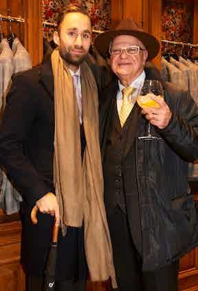 Mark's Club's Darius Namdar and Davidoff of London's Edward Sahakian.