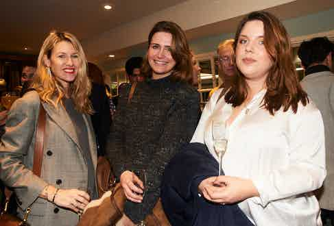 Ralph Lauren's Sadie Mantovani and Alexandra Walshaw and The Rake's Senior Stylist Jo Grzeszczuk.