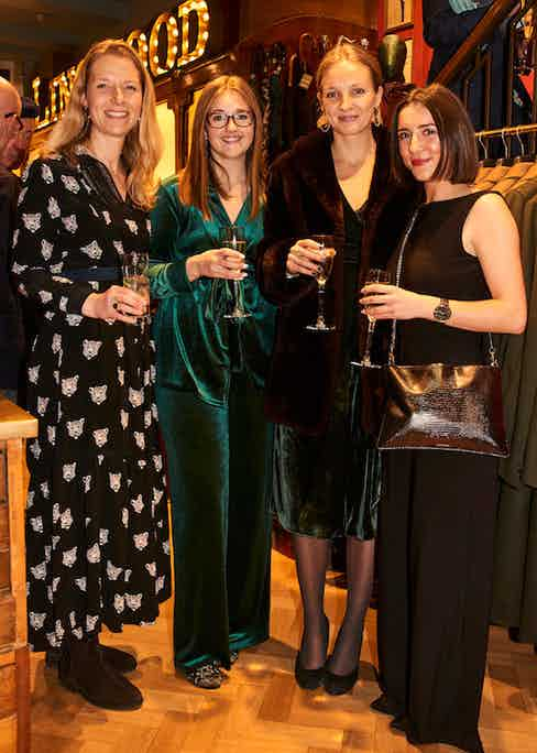 Ludwig Reiter's Viktoria Gruener, The Rake's Copywriter Megan Plenderleith, Online Editorial Associate Anna Prendergast and Marketing Assistant Phoebe Fox.