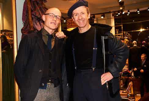 Edward Green's Euan Denholm and stylist Tom Stubbs.