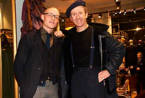 Edward Green's Euan Denholm and stylist Tom Stubbs.