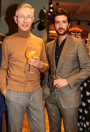 Grey Fox Blog's David Evans and The Rake's Online Editor Charlie Thomas.