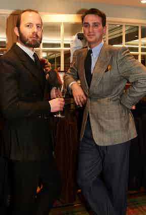 Gieves & Hawkes' Davide Taub and Edward Sexton's Dominic Sebag-Montefiore.