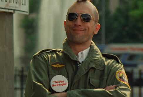 Travis Bickle's M-65 inspired military jacket was an iconic moment in cinema, in Taxi Driver, 1976