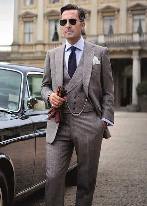 Kraft wearing a three-piece Cifonelli suit complete with the house's signature double-breasted waistcoat – perfect for colder climes.