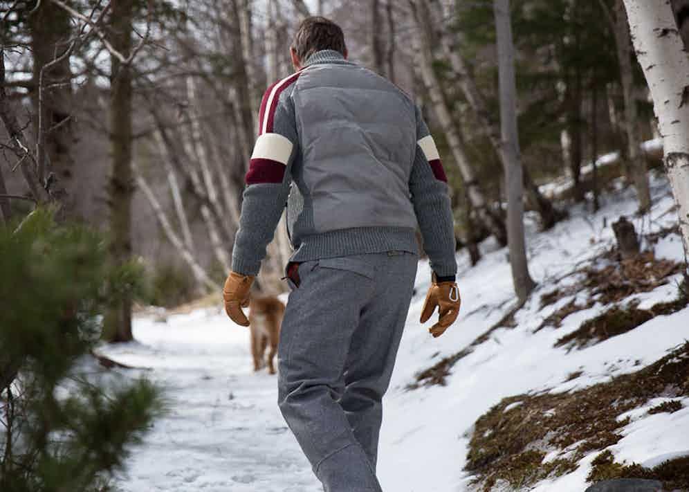 As well as performance wear, Alps & Meters' garments work as aprés-ski.