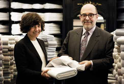 Charvet's current proprietors, siblings Anne Marie and Jean Claude Colban.
