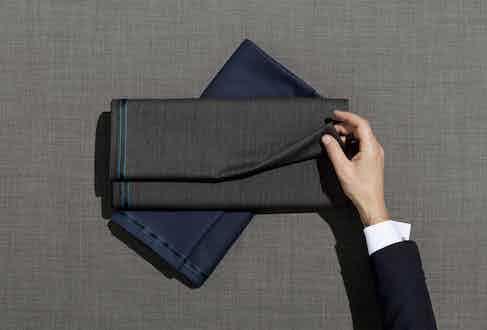 Corneliani sources its fabrics from mills in Biella, Japan and Korea.