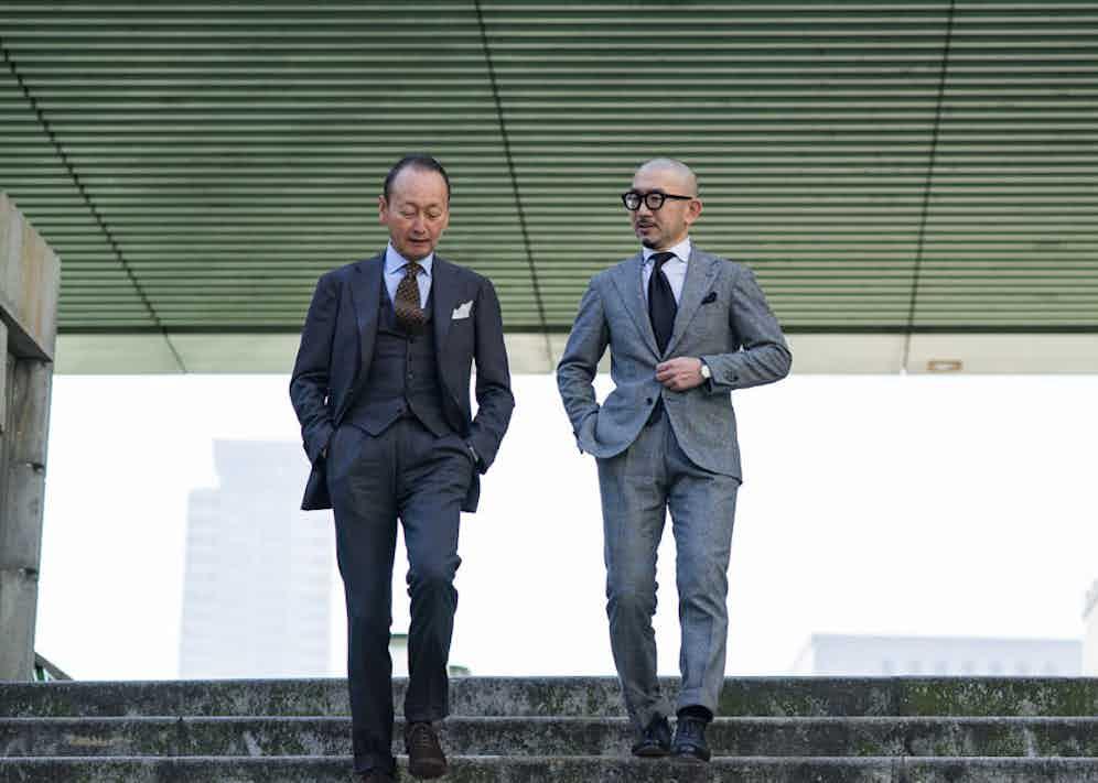 Ring Jacket President Fukushima-san and Development Manager Sasamoto.